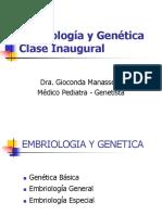 Semana 1 [Clase Inaugural] Dra. Gioconda