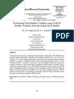 Forecasting Stock Market Volatility using GARCH Models