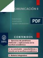 Comunic II Antepen-parafra Con Materia