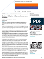 Elections Philippine Style, Same Issues, Same Problems - Bulatlat