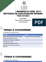 Procesos Mineros Unidad II Explotacion Minera