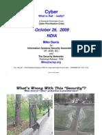 Cyber Security Oct 26 Oct (Mike Davis)