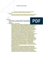 International Relations Global Governance Fields Notes