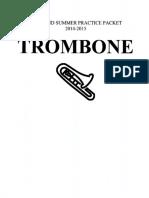 Trombone Summer Practice Packet 14-15