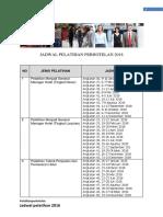 Jadwal Pelatihan Perhotelan 2018