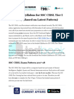 Detailed Syllabus for SSC CHSL Tier I 2017 PDF