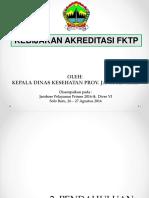 Kebijakan Akreditasi FKTP Oleh K1-3