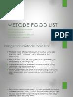 Metode Food List