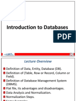 Lecture 1 Introduction to Database