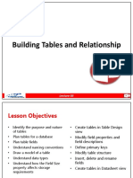 Lecture 3 Building Tables and Relationship in MS Access 2013