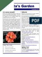 anitas garden newsletter - 29 september 2017