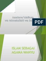 Islam Sebagai Agama Wahyu
