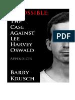 Impossible CaseAgainstLeeHarvey Oswald Appendices el caso contra harvey osvvald