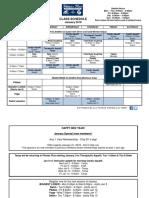 Jan 2018 Class Schedule
