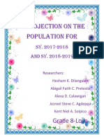 A Projection on the Population For
