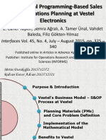 Mathematical Programming-Based Sales and Operations Planning at Vestel Electronics(Final)