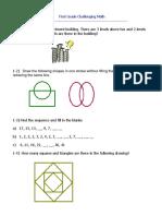 First Grade Challenging Math