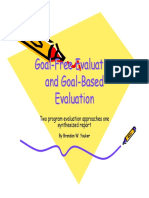 Goalfree Evaluations