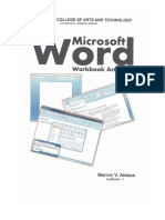 Fcat Ms Word Workbook
