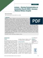 Nursing Communication on Medicatio Record