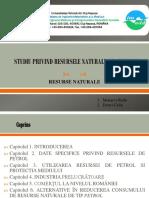 """Studiu Privind Resursele Naturale de """"Petrol"""