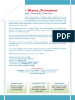 Profile 2018 of Meher Pharma International