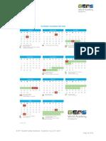 GEMS (Singapore) Calendar