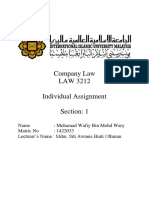 LAW Individual Assignment