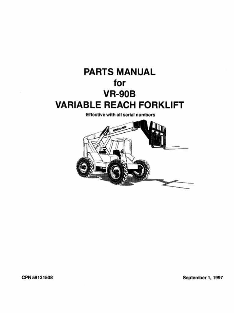 Ingersoll Rand VR-90B Telehandler Parts Manual