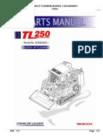 Takeuchi Tl250 Bu3z004-1 Crawler Loader Parts Manual