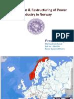 Norway Deregulation