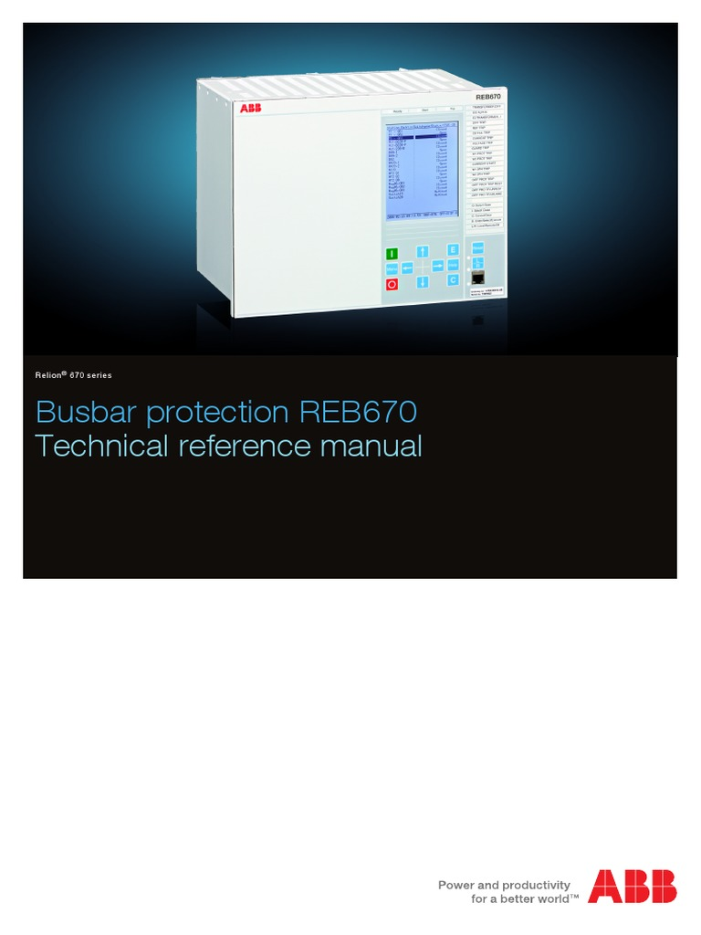 1MRK505178-UEN C en Technical Reference Manual Busbar Differential