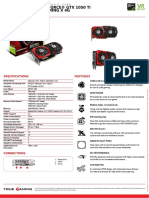 Msi Geforce Gtx 1050 Ti Gaming x 4g Datasheet