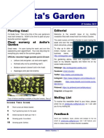 anitas garden newsletter - 27 october 2017