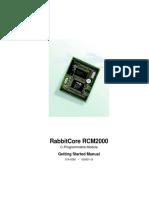 Rcm2000 Rabbitcore GettingStarted Manual