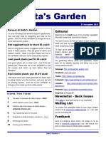 anitas garden newsletter - 17 november 2017