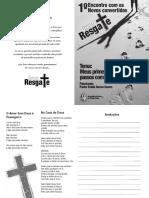 Folder Grupo Resgate