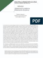 De La Alfabetizacion Academica