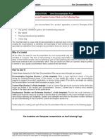 User Documentation Plan