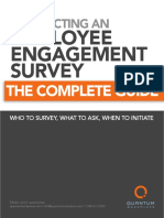 Conducting an Employee Engagement Survey the Complete Guide