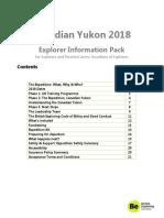 Explorer Information Pack - Yukon 2018