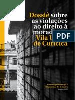 Comite Popular. Dossie Vila Uniao. 2015