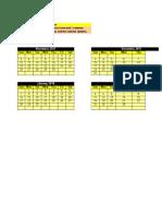 Array Formula Calendar