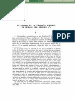 El Estado en la Filosofia Juridica de Giorgio Del Vecchio