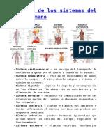 COMPONENTES ORGANICOS DEL CUERPO  BIOLOGICO.