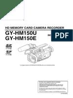 JVC GY-HM150U Manual