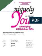 Uniquely You Spiritual Gifts Gk 23