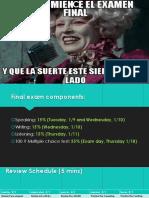 spanish 1 examen final para empezar y como eres