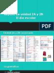 spanish 1 examen final el dia escolar y buen provecho
