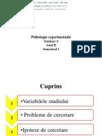 S4 Probleme, Ipoteze de Cercetare